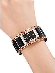 cheap -Women's Wrist Watch Square Watch Quartz Stainless Steel Black / Silver / Red 30 m Water Resistant / Waterproof Creative Analog Ladies Vintage Fashion - Silver Red Rose Gold