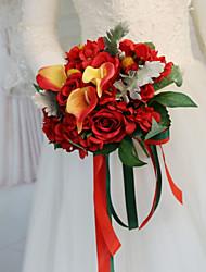 cheap -Wedding Flowers Bouquets Wedding / Wedding Party Dried Flower / Silk 11-20 cm