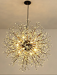 cheap -8-Light 60 cm Creative Chandelier Metal Circle Painted Finishes Modern 110-120V / 220-240V