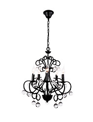 cheap -QINGMING® 5-Light 43 cm Crystal Chandelier Metal Candle-style Painted Finishes Traditional / Classic 110-120V / 220-240V