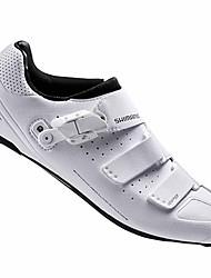 cheap -Adults' Road Bike Shoes Nylon, Fiberglass, Air-flow vents, Non-Slip tread Breathable Cushioning Ventilation Cycling / Bike Cycling Shoes White Cycling Shoes / Ultra Light (UL) / Ultra Light (UL)