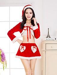 abordables -Déguisement Halloween Femme Halloween Noël Père Noël Noël Halloween Carnaval Rouge Costumes Carnaval / Haut / Chapeau
