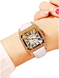 cheap -Women's Wrist Watch Square Watch Analog Quartz Ladies Water Resistant / Waterproof Casual Watch / Quilted PU Leather