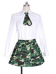 Недорогие -Вдохновлен BTOOOM! Yumeno Himiko Аниме Косплэй костюмы Японский Косплей Костюмы Школьная форма Сплошной цвет камуфляж Юбки Блузка пояс Назначение Муж. Жен.