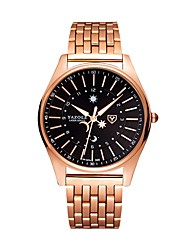 cheap -Men's Dress Watch Quartz Stainless Steel Rose Gold Water Resistant / Waterproof Noctilucent Analog Classic Casual Fashion - Rose Gold / White Black / Rose Gold