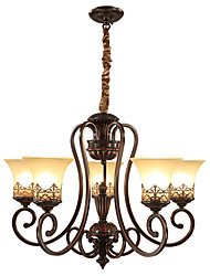 cheap -Ecolight™ 5-Light 68 cm Candle Style Chandelier Metal Glass Painted Finishes Vintage 110-120V / 220-240V / E26 / E27