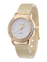 cheap -Women's Wrist Watch Diamond Watch Quartz Gold Casual Watch Imitation Diamond Analog Ladies Fashion - White Black
