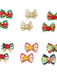 cheap -Dogs Rabbits Cats Hair Accessories Cute and Cuddly Sequins Bowknot Rainbow Bowknot Christmas Terylene Rainbow