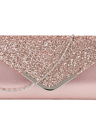cheap -Women's Glitter PU Evening Bag Solid Color Black / Blushing Pink / Gold / Fall & Winter