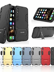 cheap -Case For Apple iPhone XR Shockproof / with Stand Back Cover Solid Colored Hard PC
