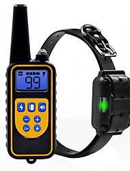 cheap -Dog Collar Training Anti Bark Electric LCD Display Remote Controlled Sound Vibration Classic Metalic Plastic Black