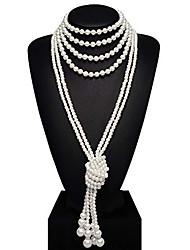 abordables -Gatsby Rétro Vintage Années 1920 Vingtaine Bandeau Garçonne Femme Costume Collier Vintage Rouge et Blanc / Blanche / Bleu / blanc Vintage Cosplay Soirée Fête scolaire Sans Manches
