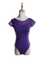 cheap -Ballet Leotards Girls' Training / Performance Cotton / Polyester / Spandex Split Joint Short Sleeve Leotard / Onesie