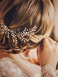 cheap -Alloy Hair Combs with Faux Pearl 1 Piece Wedding / Special Occasion Headpiece