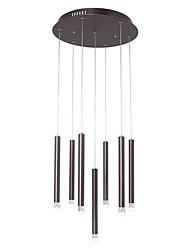 Недорогие -Ecolight™ 7-Light 2.5 cm Творчество / Регулируется Подвесные лампы Алюминий Акрил Цилиндр / шишка Анодирование LED / Modern 110-120Вольт / 220-240Вольт