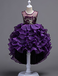cheap -Princess Flapper Dress Dress Party Costume Christmas Dress Flower Girl Dress Kid's Girls' A-Line Slip Princess Lolita Halloween Christmas Halloween Children's Day Festival / Holiday Polyester Purple