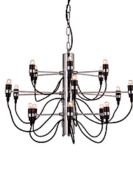 cheap -18 Bulbs 65 cm Creative Candle Style Chandelier Metal Candle-style Electroplated Artistic Chic & Modern 110-120V 220-240V