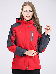 cheap -Women's Ski Jacket Hiking Jacket Outdoor Waterproof Thermal / Warm Windproof Breathable Winter Fleece Jacket Winter Jacket Top Skiing Camping / Hiking Climbing Red Green Blue L XL XXL - Deshengren®