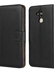cheap -Case For Huawei Huawei P20 / Huawei P20 Pro / Huawei P20 lite Wallet / Card Holder / with Stand Full Body Cases Solid Colored Hard Genuine Leather / P10 Plus / P10