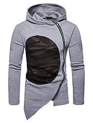 cheap -Men's Patchwork Zipper Track Jacket Color Block Running Fitness Gym Workout Hoodie Top Long Sleeve Activewear Windproof Stretchy Slim