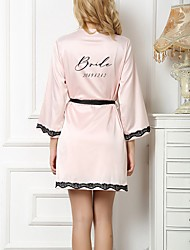 cheap -Faux Silk Robes Wedding Personalized