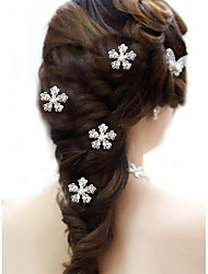 cheap -Alloy Hair Combs with Rhinestone 10 Wedding / Party / Evening Headpiece