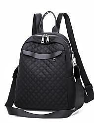 cheap -PU Zipper School Bag Solid Color Daily Black / Fall & Winter