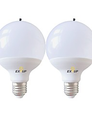 abordables -EXUP® 2pcs 15 W Ampoules Globe LED 1400 lm E26 / E27 G95 24 Perles LED SMD 2835 Purification de l'air Anion Bulb, Lonizer Air, Générateur d'ions négatifs Blanc Chaud Blanc Froid 220-240 V