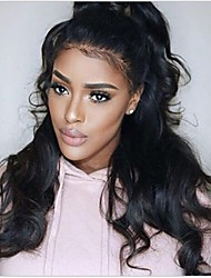 cheap -100% Virgin Remy Human Hair Glueless Full Lace Wig 360 Frontal Body Wave Wig 150% Density with Baby Hair Natural Hairline African American Wig 100% Hand Tied Women's Medium Length Long Human Hair Lace