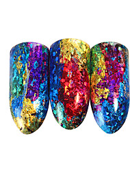 cheap -1 pcs 3D Nail Stickers Galaxy nail art Manicure Pedicure Color Gradient / Best Quality Trendy / Fashion Daily