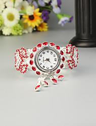 Недорогие -FEIS Жен. Дамы Часы-браслет Кварцевый Серебристый металл Секундомер Аналого-цифровые Мода - Красный