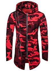 cheap -Men's Zipper Asymetric Hem Track Jacket Camo / Camouflage Running Fitness Gym Workout Hoodie Top Long Sleeve Activewear Windproof Stretchy Slim