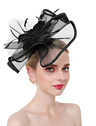 cheap -Women's Kentucky Derby Vintage Elegant Fabric Head Jewelry Wedding Party - Solid Colored / Linen / Mesh / All Seasons
