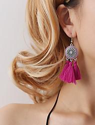 cheap -Women's Drop Earrings Vintage Style Tassel Flower Ladies Bohemian Korean Earrings Jewelry Pink / Wine / Light Blue For Party / Evening Gift Daily 1pc