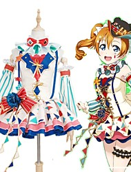 cheap -Inspired by Love Live Cosplay Anime Cosplay Costumes Japanese Cosplay Suits Patchwork Butterfly Dress Bow More Accessories For Men's Women's