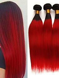 cheap -3 Bundles Brazilian Hair Straight Remy Human Hair Human Hair Extensions 10-26 inch Natural Human Hair Weaves Soft Best Quality New Arrival Human Hair Extensions / 10A