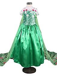 cheap -Princess Vintage Dress Party Costume Girls' Costume Green / Blue / LightBlue Vintage Cosplay Sleeveless Long Length