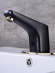 cheap -Bathroom Sink Faucet - Sensor Black Oxide Finish Free Standing Hands free One HoleBath Taps