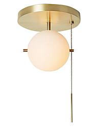 cheap -1-Light ZHISHU 23 cm Mini Style Flush Mount Lights Metal Novelty Brass Artistic / Modern 110-120V / 220-240V / E26 / E27