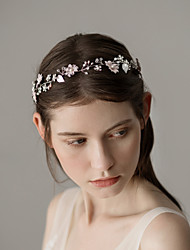 cheap -Pearl Headbands with Petal 1 Piece Wedding / Party / Evening Headpiece