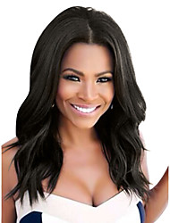 cheap -Remy Human Hair Lace Front Wig style Brazilian Hair Wavy Black Wig 180% Density with Baby Hair Women Best Quality Natural Hairline Unprocessed Women's Long Human Hair Lace Wig
