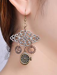 cheap -Women's Drop Earrings Retro Gear Ladies Vintage Steampunk Kinetic Earrings Jewelry Bronze For Party / Evening Ceremony 1 Pair