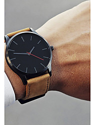 cheap -Men's Dress Watch Wrist Watch Analog Quartz Casual Casual Watch Cool / One Year / Stainless Steel / Leather