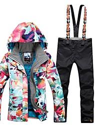 Недорогие -GSOU SNOW Жен. Лыжная куртка и брюки Лыжные очки Лыжи Зимние виды спорта Зимние виды спорта Полиэфир Наборы одежды Одежда для катания на лыжах / камуфляж