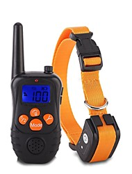 cheap -Dog Collar Training Anti Bark Electric LCD Display Classic Metalic Plastic Black Orange