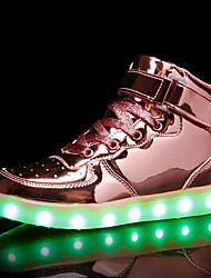 cheap -Boys / Girls USB Charging  LED / LED Shoes Patent Leather Sneakers Toddler(9m-4ys) / Little Kids(4-7ys) / Big Kids(7years +) LED Gold / Pink / Silver Summer