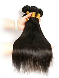 cheap -3 Bundles Indian Hair Straight Human Hair Unprocessed Human Hair Headpiece Natural Color Hair Weaves / Hair Bulk Hair Care 8-28 inch Natural Color Human Hair Weaves Waterfall Normal Fashionable Design