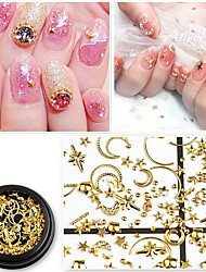 cheap -1 pcs 3D Interface Metalic Nail Jewelry Sequins For Finger Nail Novelty nail art Manicure Pedicure Daily / Masquerade / Thanksgiving Korean / Fashion