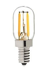 abordables -KWB 1 W Ampoules Globe LED 150-200 lm E14 S14 2 Perles LED COB Intensité Réglable Blanc Chaud 220-240 V / 1 pièce / RoHs