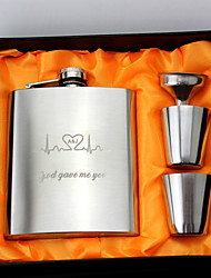cheap -Personalized Stainless Steel / Iron Barware & Flasks Groom / Groomsman / Friends Wedding / Birthday